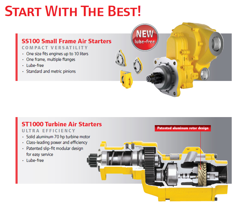 Ingersoll Rand Air Starters Benefits and Features