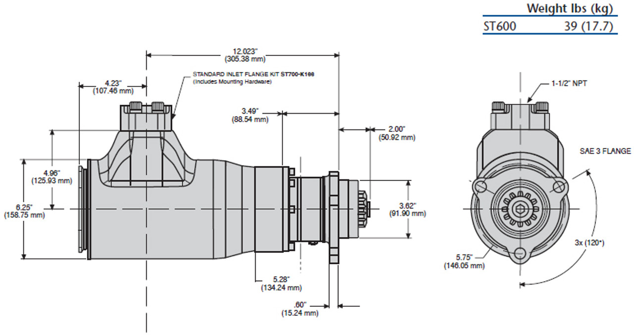 ST650BP03R31 Turbine Air Starter   Half Arc (60-150 PSI