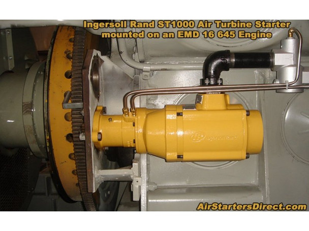 ST1060DP09R51-02G Turbine Air Starter | 60% Arc with Elbow Exhaust (up to 150 psi) | by Ingersoll Rand