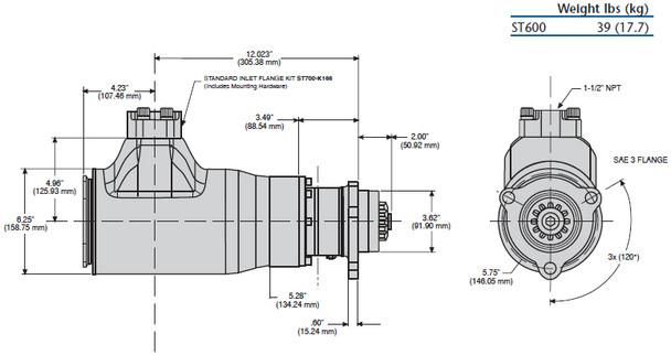 ST650BP03R51 Turbine Air Starter | Half Arc (60-150 PSI) | by Ingersoll Rand