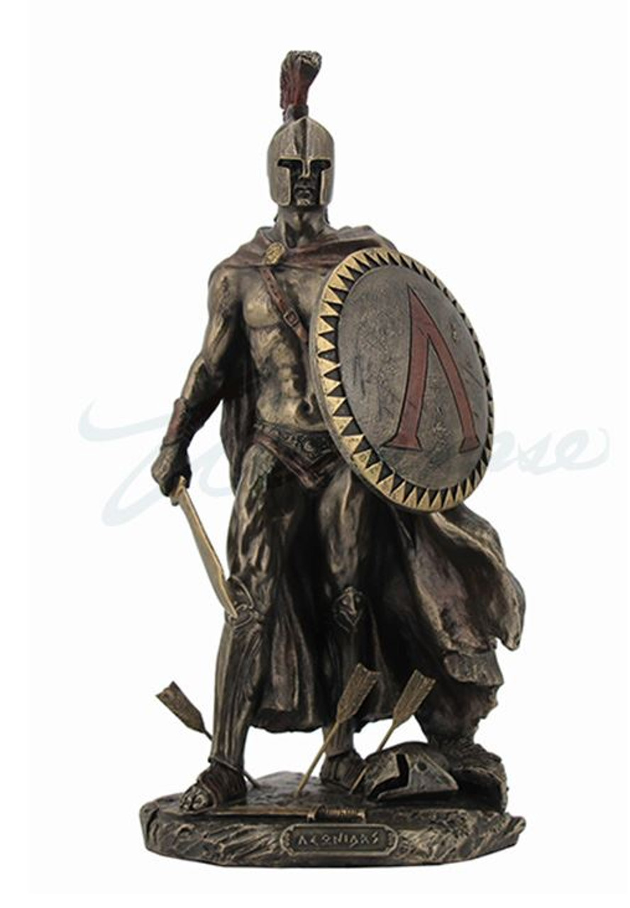King Leonidas Spartan Warrior with Sword and Shield