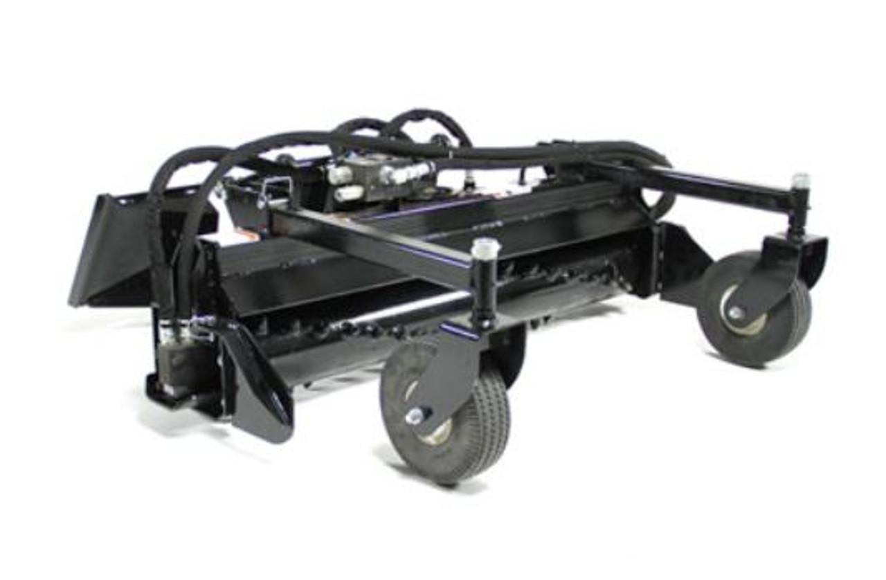 """Mini Skid Steer 48"""" Power Rake (Manual Angle)"""