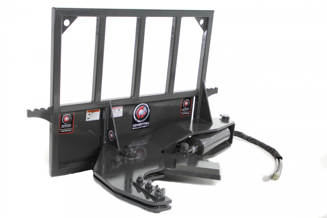 """Skid Steer Tree Shear Attachment That Cuts Up To 12"""" Dia Trees With Fixed Base"""