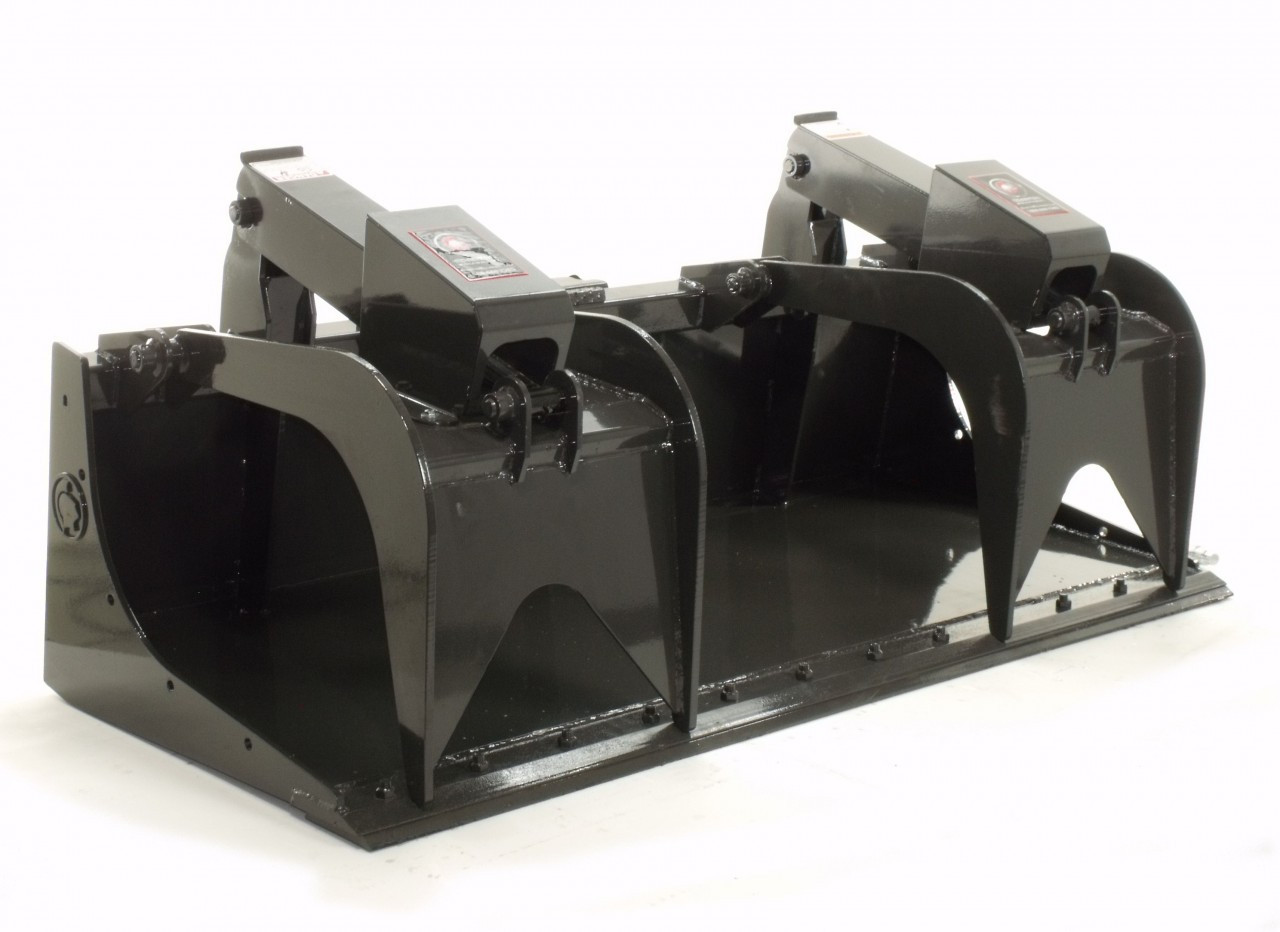"""Skid Steer Grapple Bucket Attachment 60"""" Wide Professional Series"""