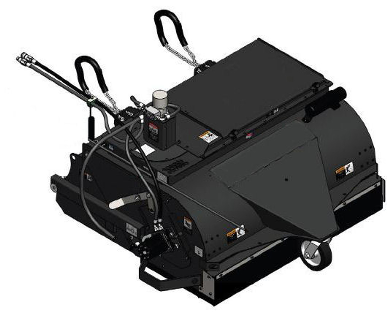 """72"""" Wide Skid Steer Boxbroom Sweeper Attachment SEVS Series Poly