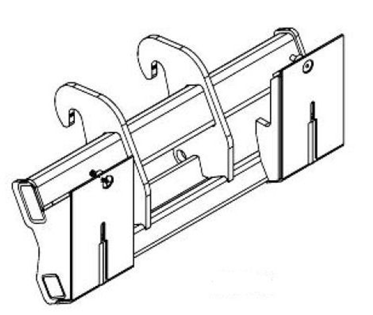 JCB 506 | 508 to Universal Skid Steer Mounting