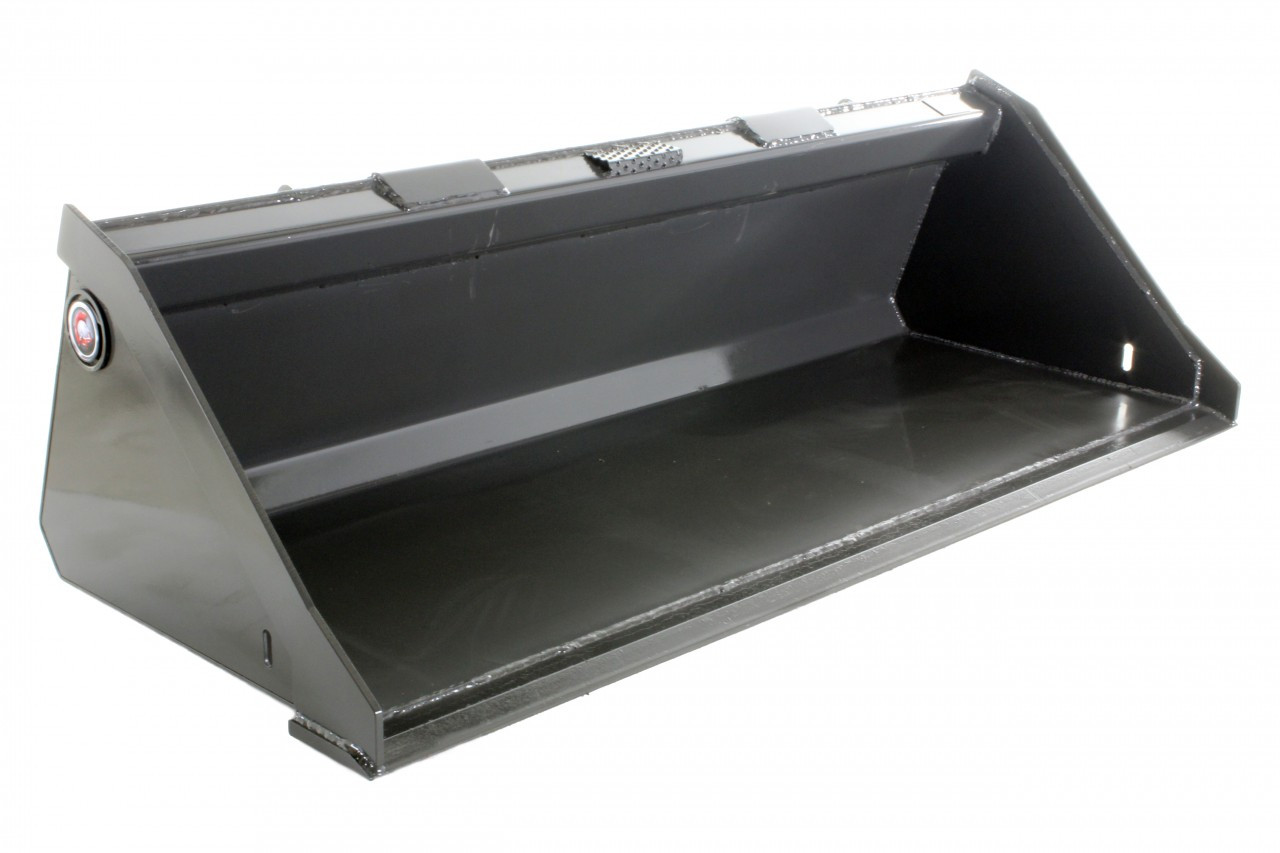 """Skid Steer Bucket 84"""" Low Profile Bucket with Smooth Edge"""