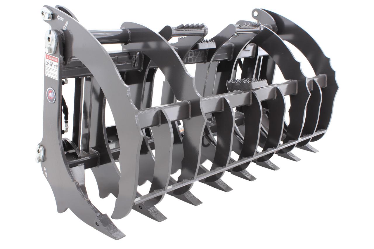 "Skid Steer Grapple Rake Attachment 72"" Wide Industrial Series"