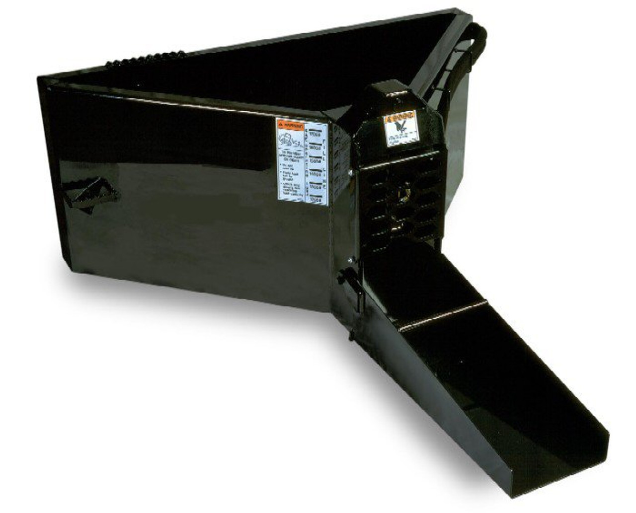 Skid Steer Concrete Chuter 3/4 Yard Capacity (Industrial Series)
