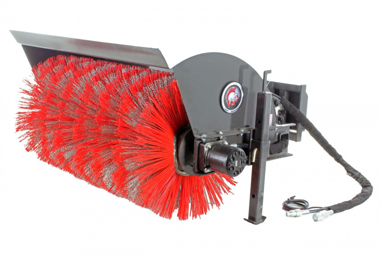 Spartan Mini Skid Steer Angle Broom Attachment