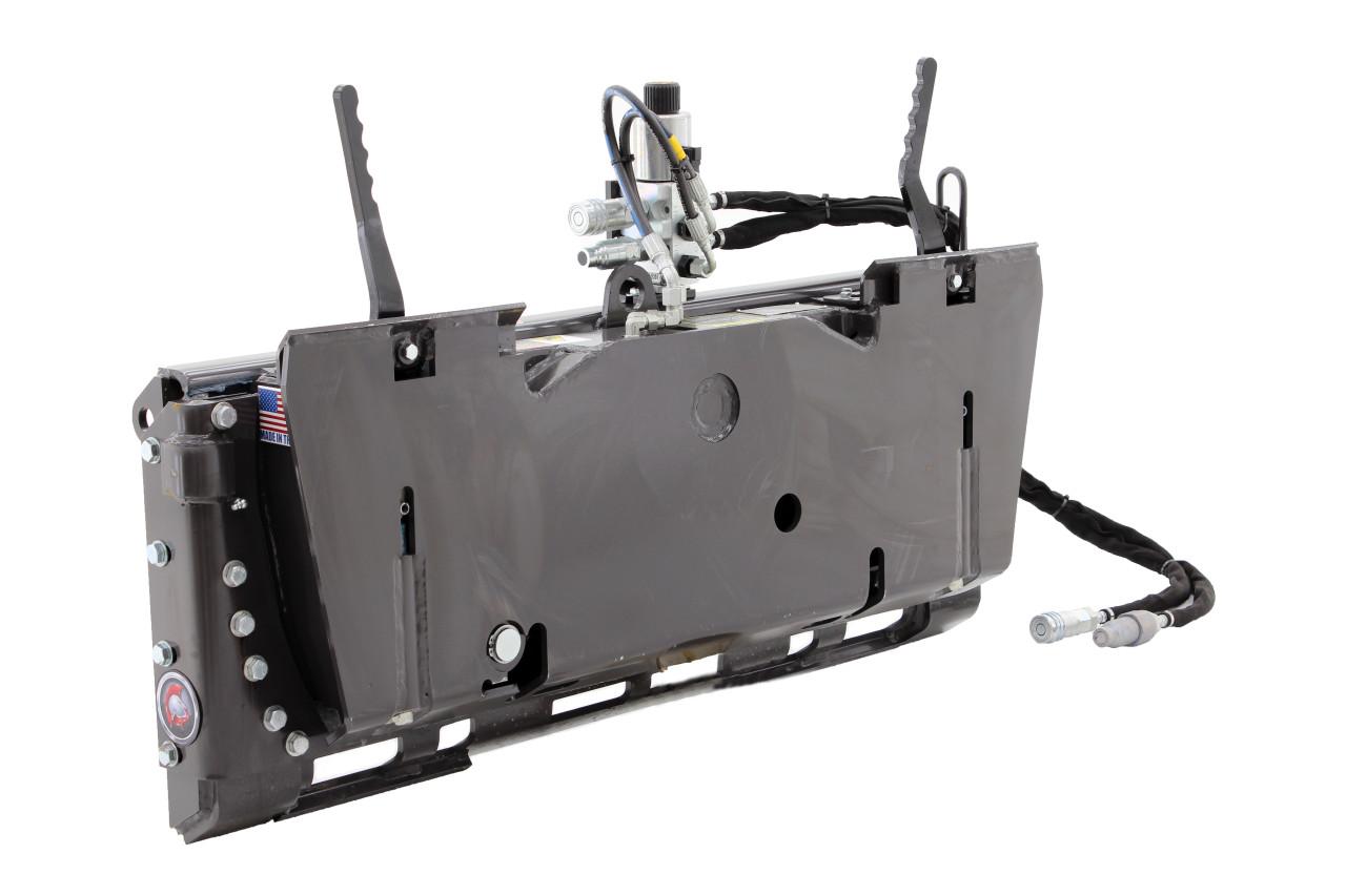 Skid Steer Tilt Attach Plate Attachment With 3rd Valve