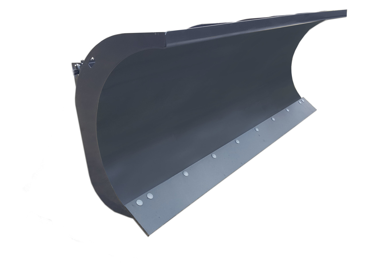 """72"""" Wide Skid Steer Hydraulic Angle Snow Blade With Curved Top"""