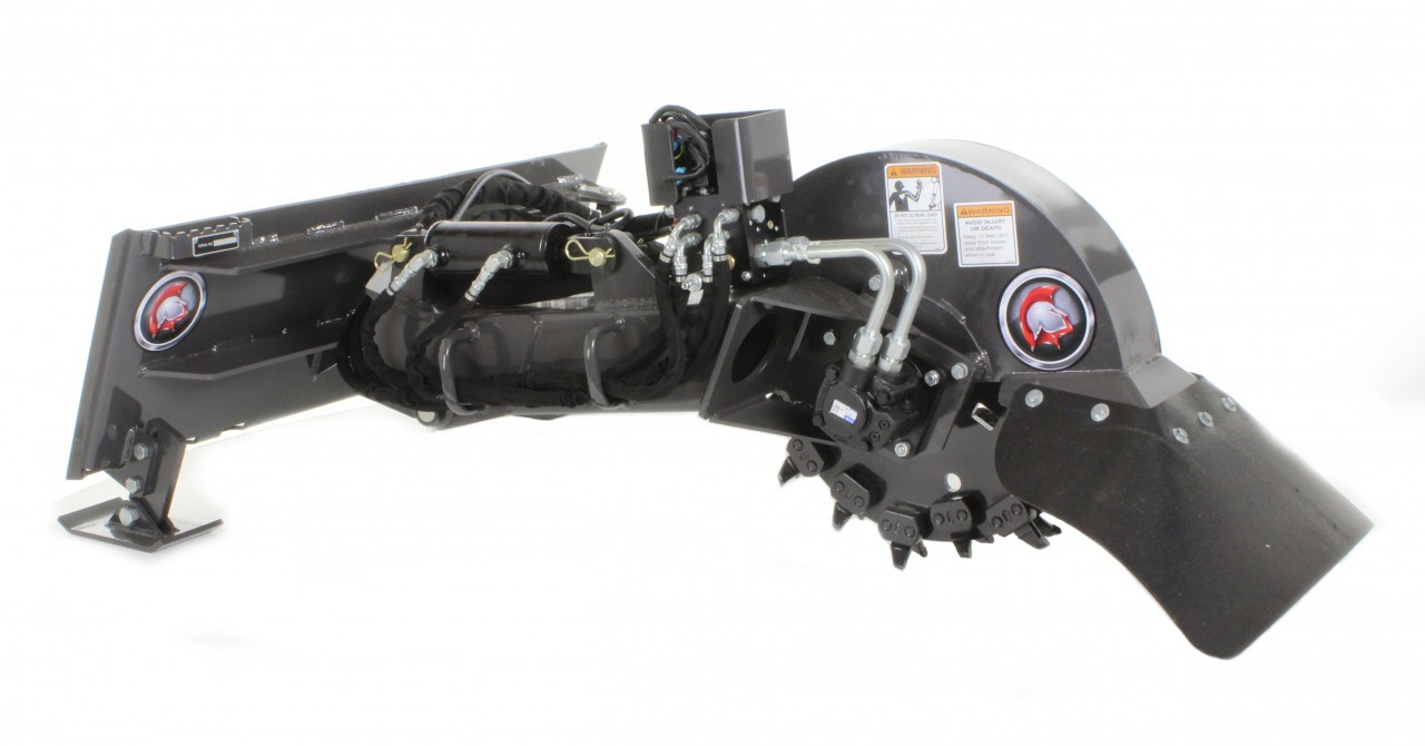 Skid Steer Stump Grinder Attachment Standard Flow 15 32 Gpm Professional Series