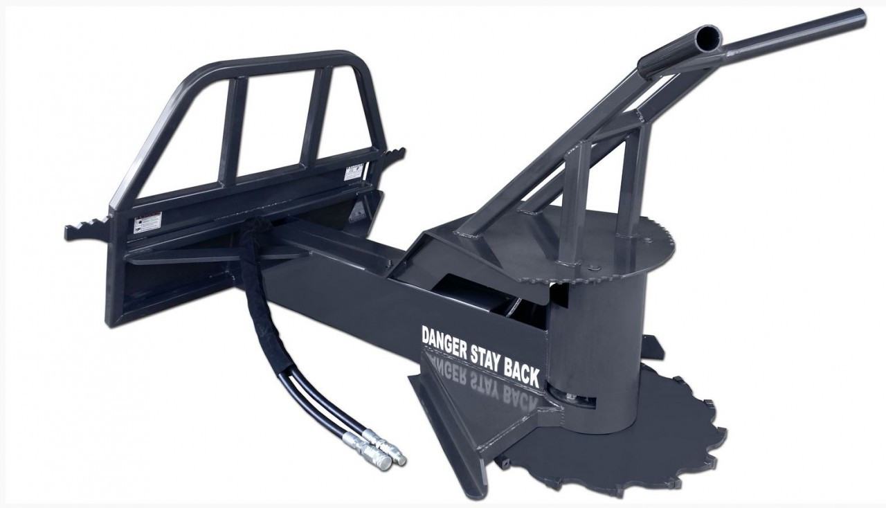Skid Steer Tree Saw Attachment Fixed Boom High Flow