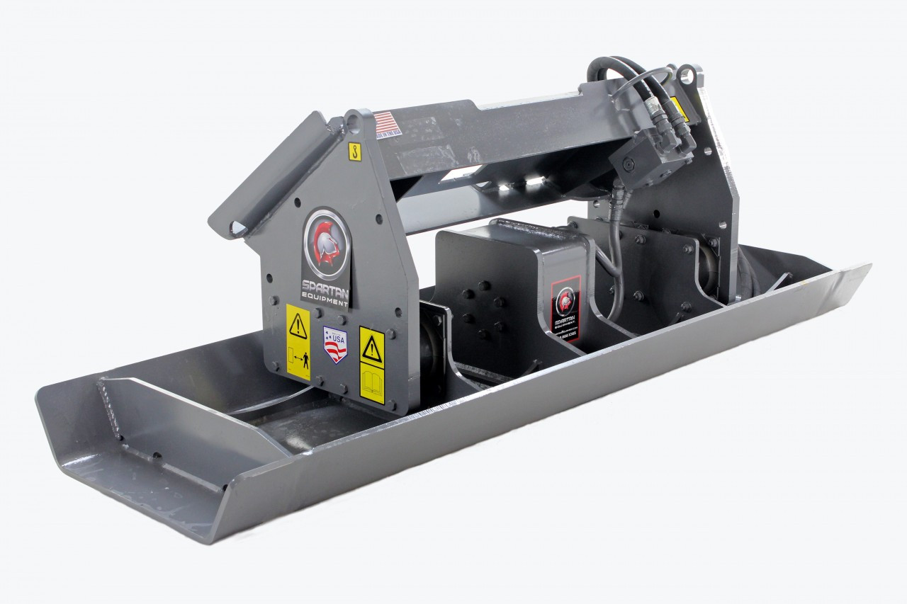 """Skid Steer Vibratory Plate Compactor Attachment 84"""" Wide"""
