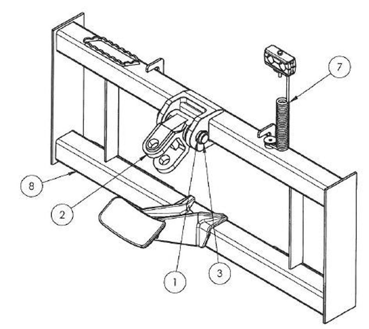 Skid Steer Auger Universal Loader Mounting Plate