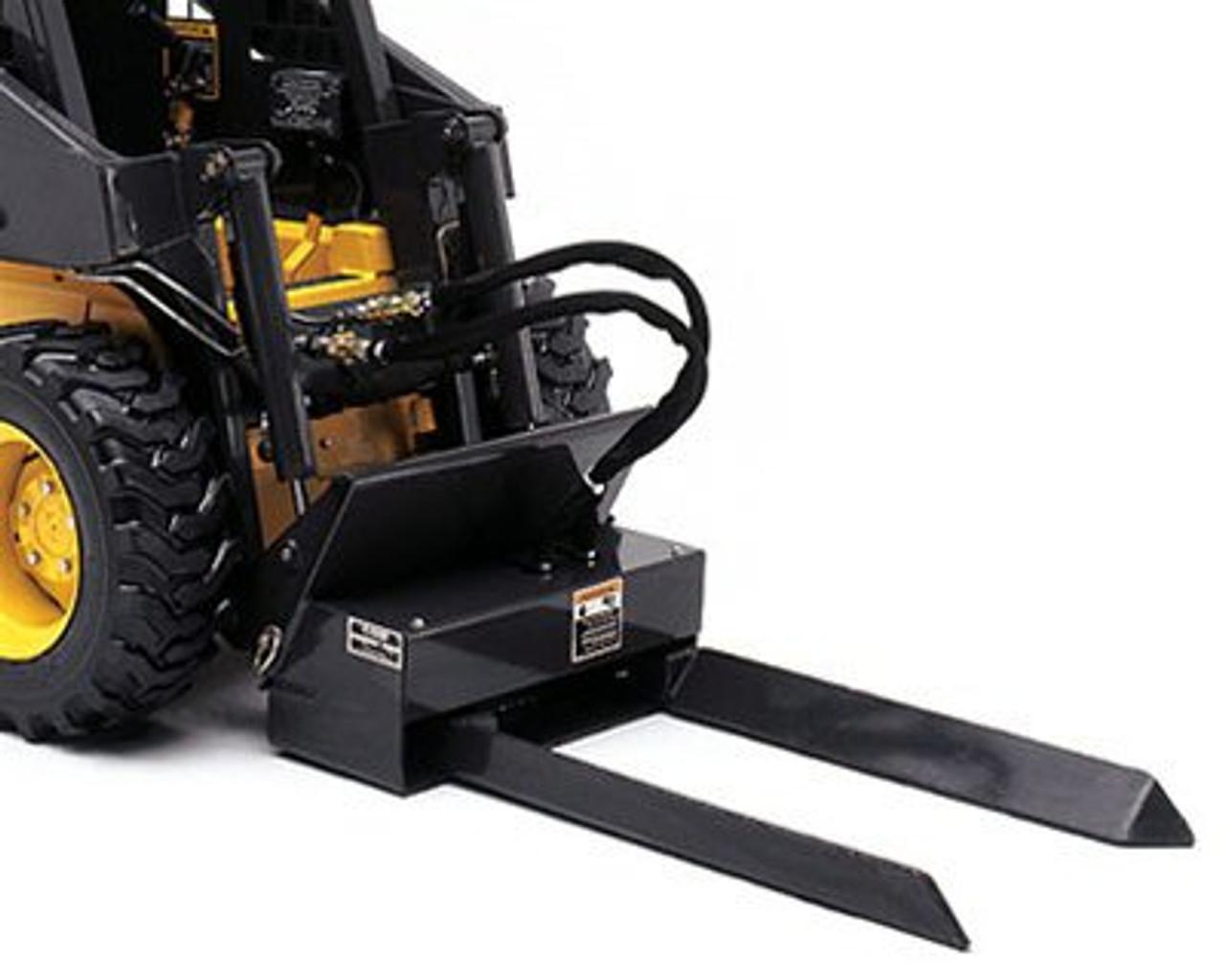 Mini Skid Steer Hydraulic Tree Fork Attachment