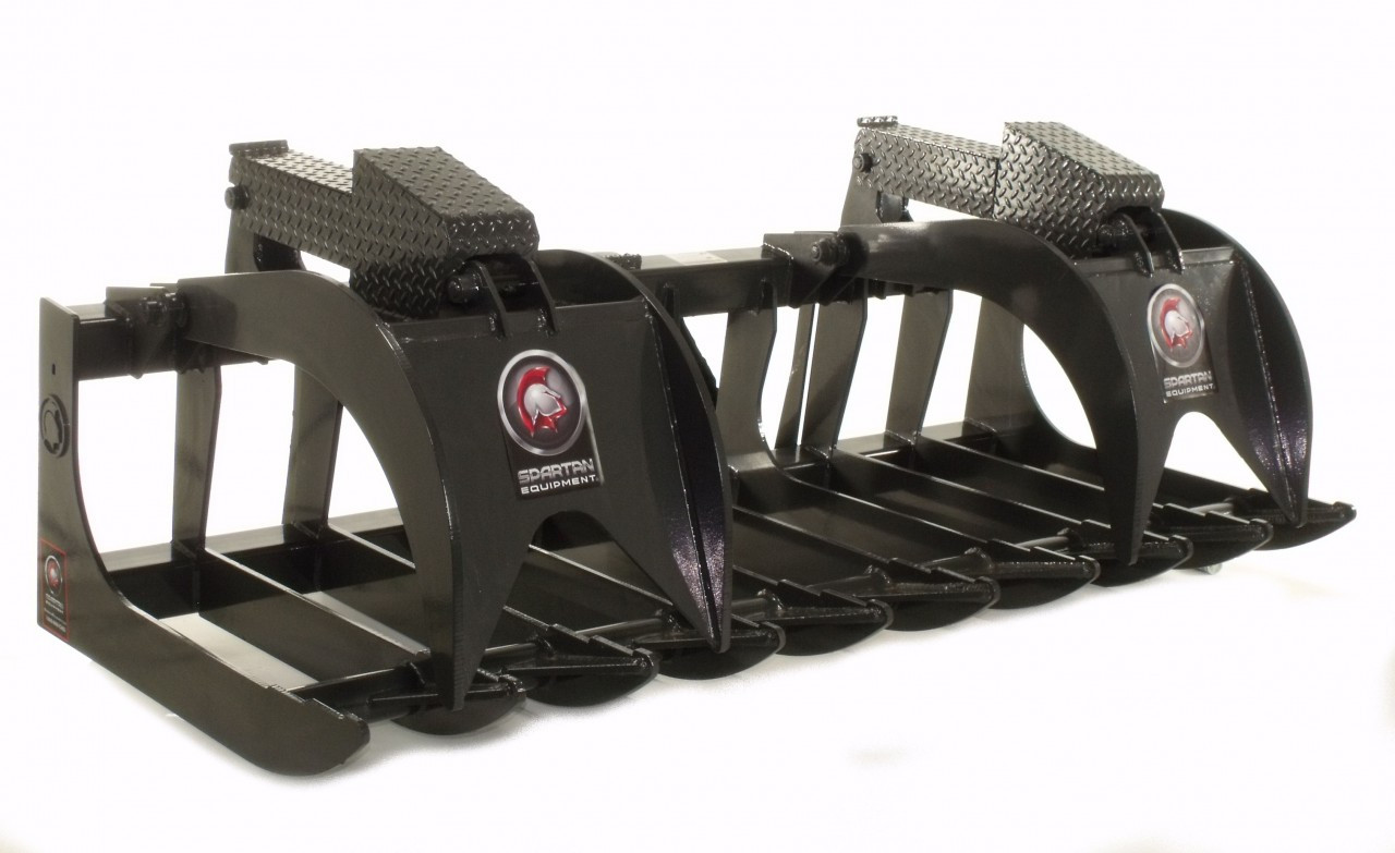 """Skid Steer Root Grapple Attachment Industrial Series 84"""" Wide"""