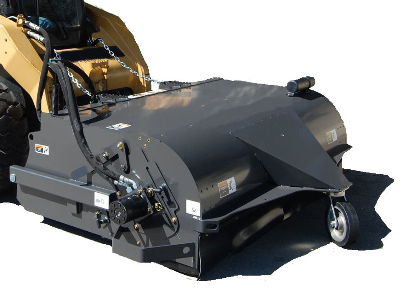 """72"""" Wide Skid Steer Boxbroom Sweeper Attachment SEVRS Series Poly