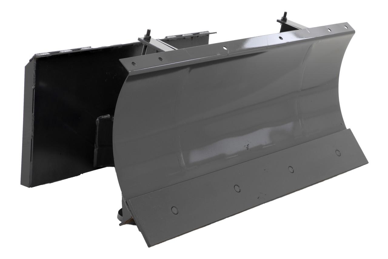 "48"" Wide Mini Skid Steer 4 Way Dozer Blade Hydraulic Angle Bobcat MT50/52/55 Mount"