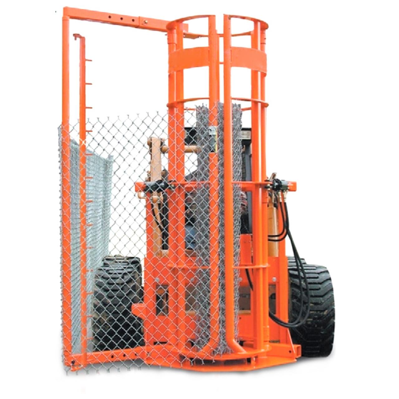 """Skid Steer Fence Installer 24"""" Diameter for Chain Link Fence"""