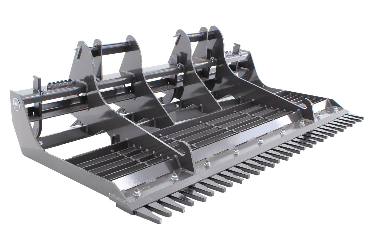 Skid Steer Land Sculptor Attachment With Front Comb