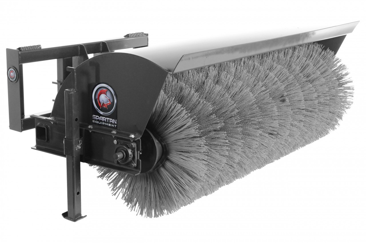 "72"" Wide Manual Angle Broom Attachment With Poly & Wire Brushes"