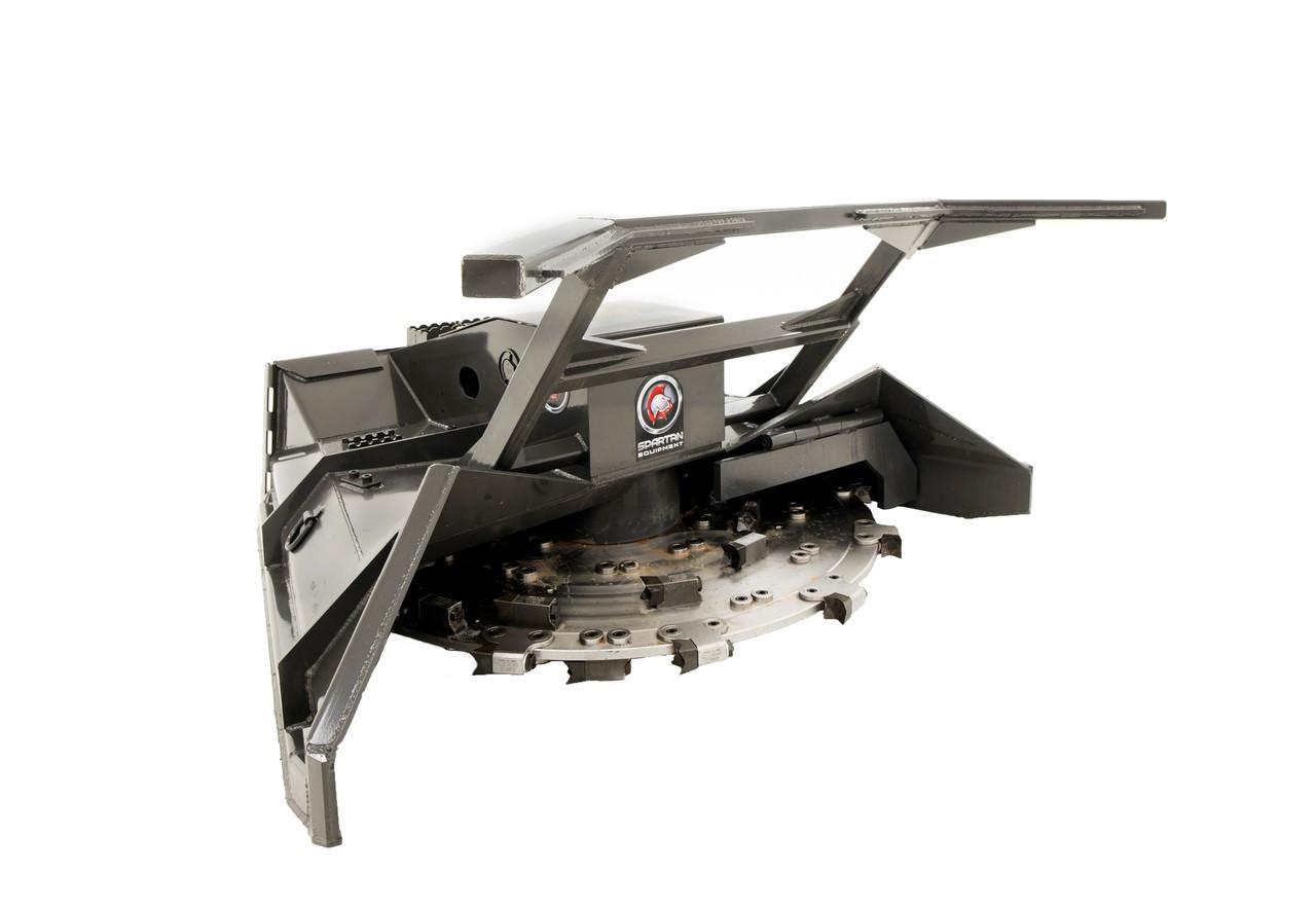 """Skid Steer Disc Mulcher Attachment 82"""" Wide Flow 32-44 gpm (Case Drain)"""