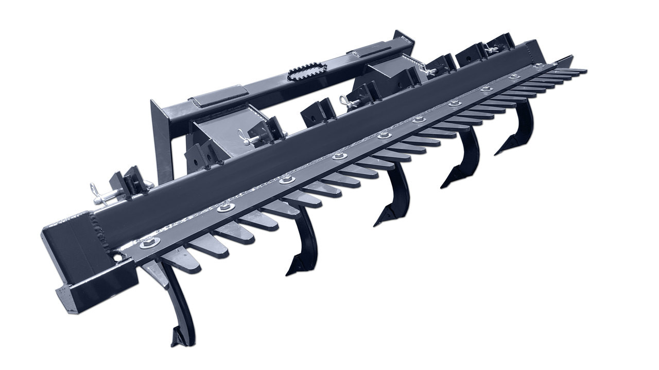 """Skid Steer Ripper Attachment (72"""" Wide) With Comb"""