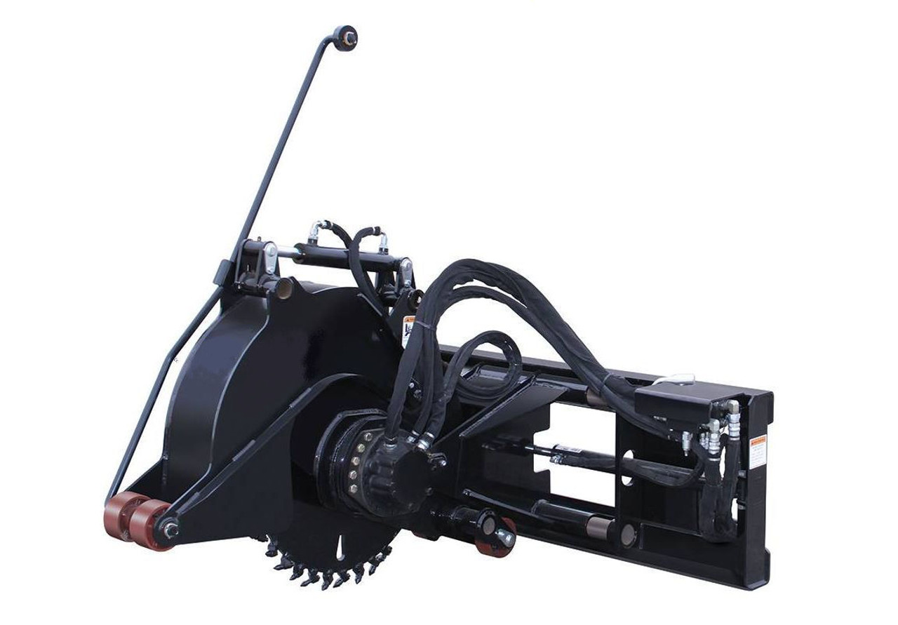 "Skid Steer Pavement Saw 2.5"" Wide Cut Standard Flow"