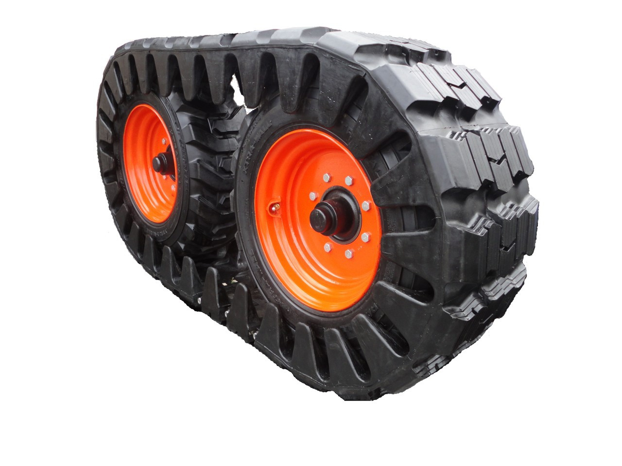 Skid Steer Rubber Tracks For Tire 12 x 16.5 Size
