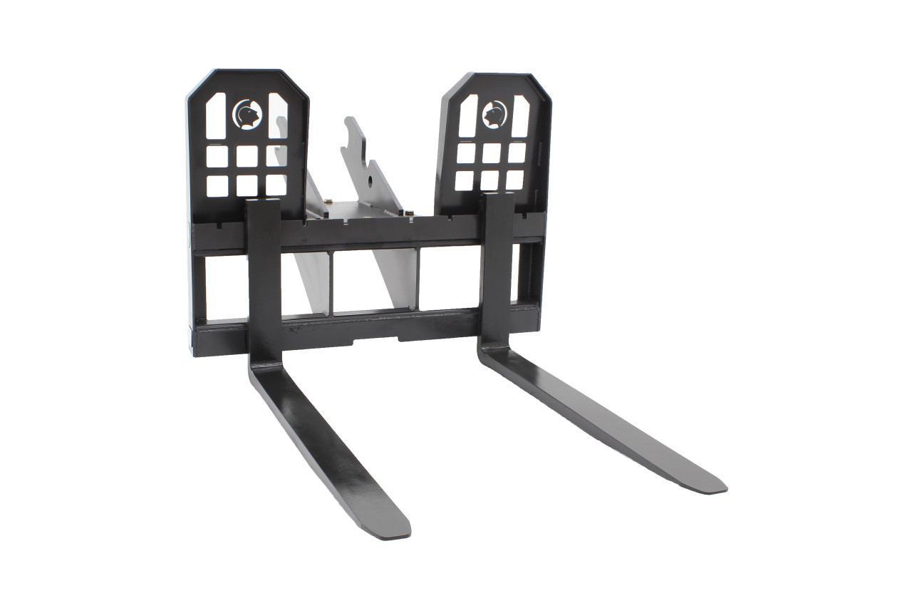 """Mini Excavator Pallet Forks 48"""" Long For 10,000-14,000 Class Machines"""