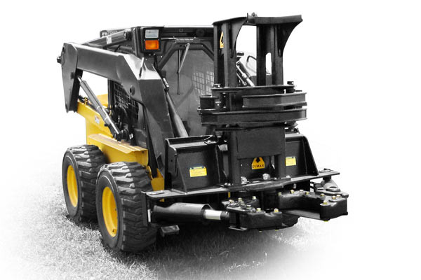 Skid Steer Tree Shear Attachment That Cuts Up To 14
