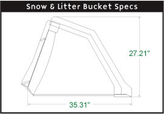 Snow & Litter Bucket