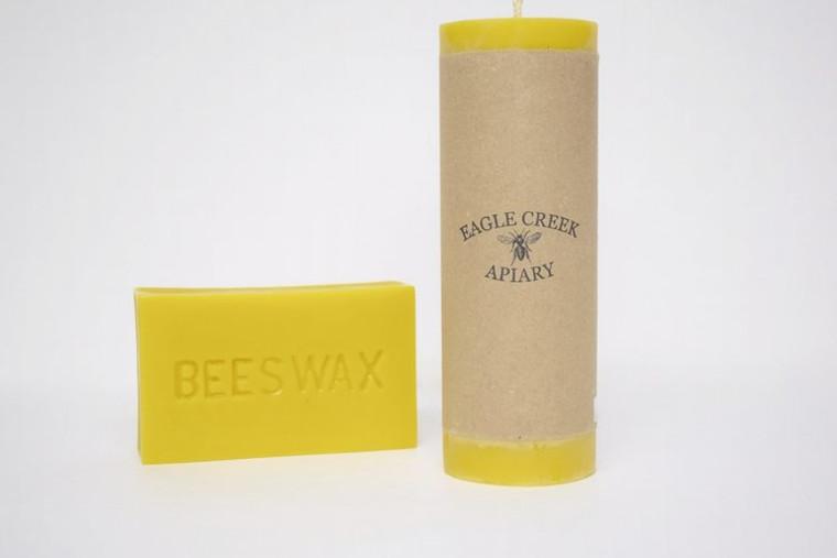 Extra Large Pillar Candle - 100% Beeswax