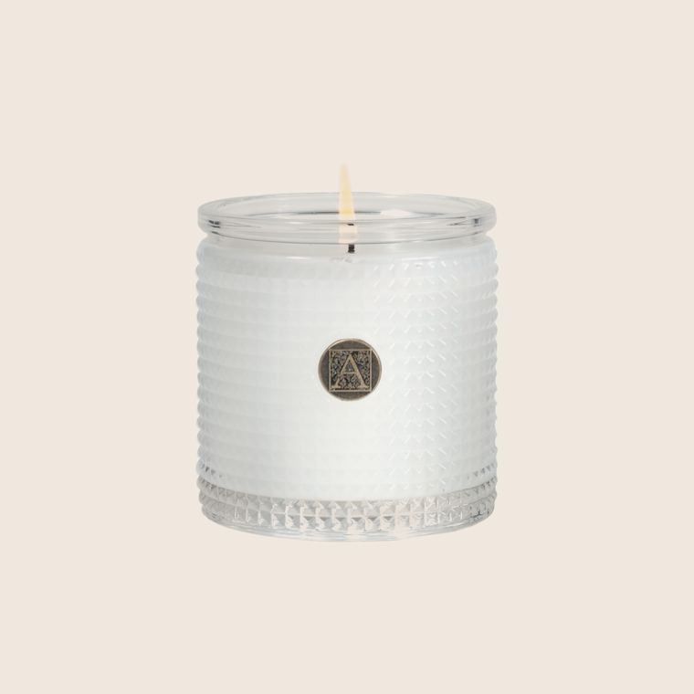 Textured Candle - White Teak & Moss