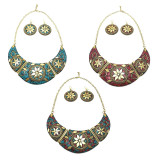 Neelah Crescent Necklace & Earrings Set