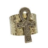 Ankh Cuff Filigree Bracelet