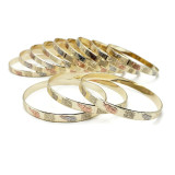 Avni Three Tone Elephant Bangles - 12pc Set