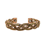 Woven Three Tone Copper Cuff
