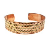 Mirembe Pure Copper Bracelet with Twisted Link Carvings