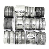 2 Inch Silver Plated Brass Cuffs - Set of 12