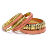 Exclusive Brass and Resin Bangle Bracelet Set