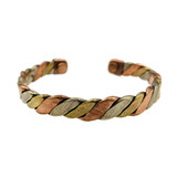 Kavya Three Tone Twisted Copper Cuff