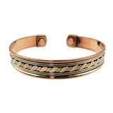 Isha Two Tone Copper Energy Cuff
