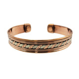 Gauri Wavy Two Tone Copper Cuff