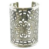Zahara Ornate Brass Filigree Cuff