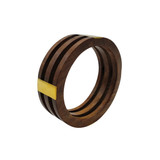 Layered Wood and Brass Inlay Bangle