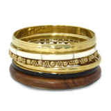 Limbani Gold Tone Bangle Set - 5pc Set