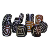 Assorted Batik Print Bone Rings